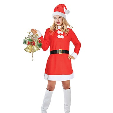 Santa Suit Christmas Dress Women's Adults Christmas Christmas Festival /  Holiday Outfits Light Red Holiday 7047602 2018 – $24.99 - Santa Suit Christmas Dress Women's Adults Christmas Christmas