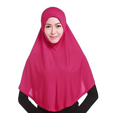 Žene Jednobojni Vintage Ukriženo Hijab