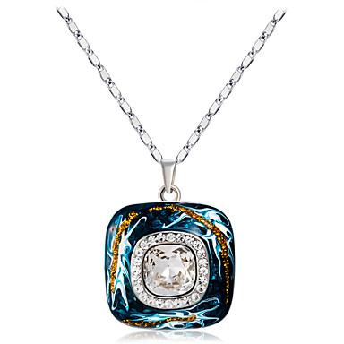 Žene Vedro Kristal Ogrlice s privjeskom Klasičan Gemini pomodan Moda Elegantno Imitacija dijamanta Legura Plava 45 cm Ogrlice Jewelry 1pc Za Zabava / večer Dnevno