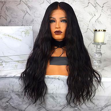 Remy kosa Lace Front Perika Wendy stil Brazilska kosa Water Wave Crna Perika 130% 150% 180% Gustoća kose s dječjom kosom Žene Rasprodaja 100% Djevica neprerađenih Žene Dug Perike s ljudskom kosom