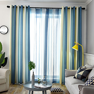 [$75.59] Modern Curtains Drapes Two Panels Curtain / Dining Room