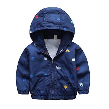 cheap Boys' Jackets & Coats-Toddler Boys' Active Daily Solid Colored Polka Dot Geometric Long Sleeve Regular Jacket & Coat White
