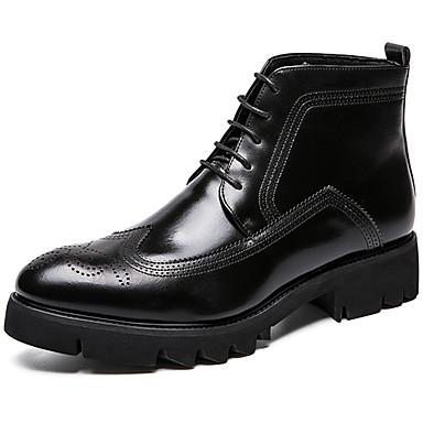 Muškarci Fashion Boots Sintetika Proljeće & Jesen Ležerne prilike / Uglađeni Čizme Ugrijati Čizme gležnjače / do gležnja Crn / Lila-roza / Ured i karijera / Vojničke čizme