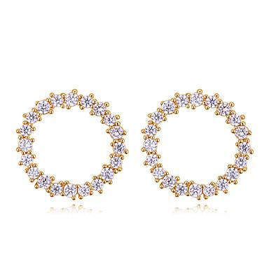 levne Dámské šperky-Bílá Kubický zirkon Klasika Náušnice - S925 Sterling Silver Diamant Evropský, minimalistický styl, Módní Zlatá / Stříbrná / Světle hnědá Pro Denní Večerní oslava Dámské / 1 Pair