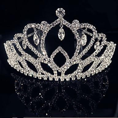 levne Dámské šperky-Kubický zirkon Klasika Doplňky do vlasů Fascinators - Šťastný, Blahoslavený Luxus, Klasické & nadčasové, Elegantní Stříbrná Pro Svatební Párty Dámské