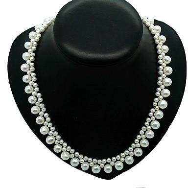 levne Dámské šperky-Sladkovodní perla Klasika Náhrdelník - Perly Blahoslavený Luxus, Retro, Módní Bílá Pro Dar Party Dámské