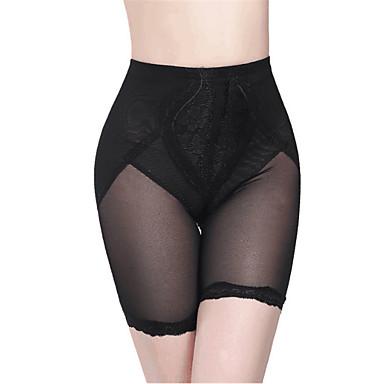 Normal Nailon Panties Sexy Bordado Boda Un Color