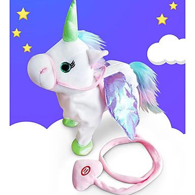 levne Pluszowe zwierzęta-Unicorn Plyšová zvířátka Mluví Zvířata Zpěv Chůze PP+ABS Vše Hračky Dárek 1 pcs