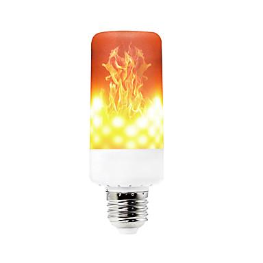 preiswerte Dekoration Glühbirnen-YWXLIGHT® 1pc 6 W LED Mais-Birnen 550-600 lm E14 B22 E12 T 99 LED-Perlen SMD 3528 Abblendbar Dekorativ Flamme flackert Warmes Weiß 85-265 V