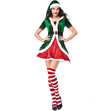 c3a9b23f427d Cosplay Costume Santa Clothes Teen Adults' Women's Christmas Christmas New  Year Festival / Holiday Plush Fabric Green Carnival Costumes Holiday  7041115 2019 ...