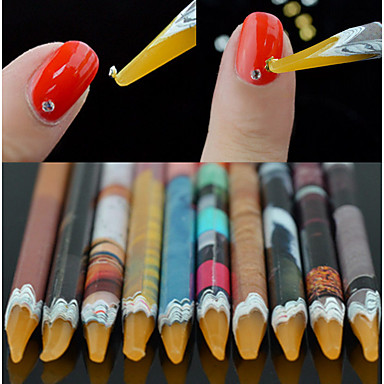 levne Náčiní a vybavení-1ks Ekologický materiál Nástroj na nehty Nástroje na nehty Pro Multifunkční / Nejlepší kvalita Bílá série nail art manikúra pedikúra Moderní / Módní Denní