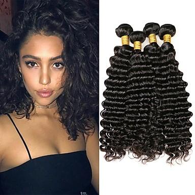 4 paketića Malezijska kosa Water Wave Ljudska kosa Netretirana  ljudske kose Headpiece Ljudske kose plete Styling kose 8-28 inch Prirodna boja Isprepliće ljudske kose Nježno novi Rasprodaja / 8A