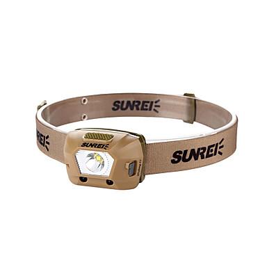 Sensor-02 Svjetiljke za glavu sigurnosna svjetla 230 lm LED LED 1 emiteri 4.0 rasvjeta mode s baterijom Prijenosno Kampiranje / planinarenje / Speleologija Uporaba Biciklizam Kava / IPX 6