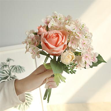 d884734ee Umělé květiny 6 Větev Klasické minimalistický styl Svatební kytice Růže  Hortenzie Květina na stůl 7060440 2019 – $8.39