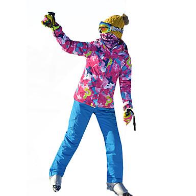 MARSNOW® Žene Skijaška jakna i hlače Zimski sportovi Vodootporno Vjetronepropusnost Toplo 100% pamuk žanila Sportska odijela Skijaška odjeća / Zima