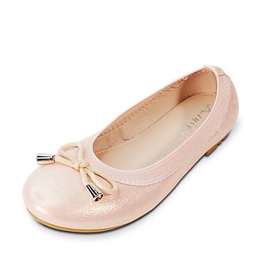 387b52f3c27 Jente Sko PU Vår sommer Ballerina Flate sko Sløyfe / Paljett til Barn /  Teenager Hvit / Sølv / Rosa / Fest / aften 7072966 2019 – $22.99