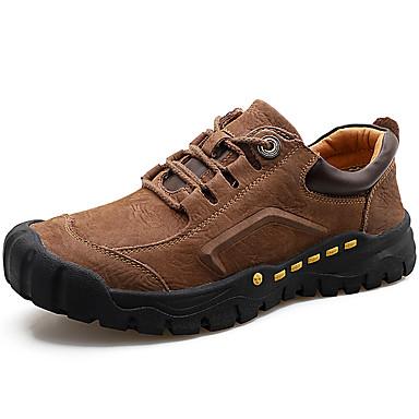 Muškarci Kožne cipele Mekana koža Proljeće & Jesen Klasik / Ležerne prilike Oksfordice Masaža Crn / Braon / Žutomrk / Vanjski / Udobne cipele