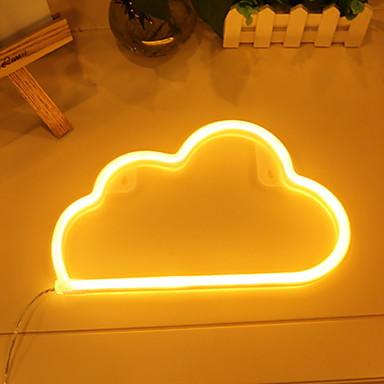 1pc LED noćno svjetlo Toplo bijelo DC Powered Divan <5 V