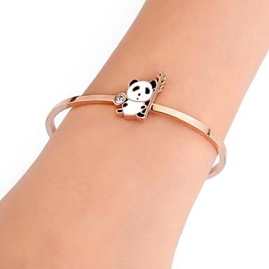 povoljno Modne narukvice-Žene Široke narukvice Klasičan Panda dame Jedinstven dizajn pomodan Hip-hop Tikovina Narukvica Nakit Rose Gold Za Dar Ulica
