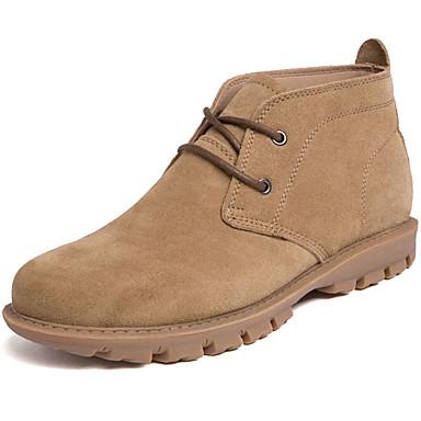 Muškarci Fashion Boots Koža Jesen zima Klasik / Ležerne prilike Čizme Ugrijati Čizme gležnjače / do gležnja Crn / Bijela / Bež / Vanjski / Vojničke čizme