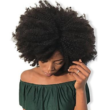 povoljno Ekstenzije za kosu-Dolago S kopčom Proširenja ljudske kose Kovrčav Ljudska kosa Ekstenzije od ljudske kose Brazilska kosa Natural 7 kom Odor Free Prirodno 100% Djevica Sve Crna