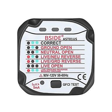 bside ast01 utičnica mjerač polariteta napona detektor zid utikač prekidač finder - us plug
