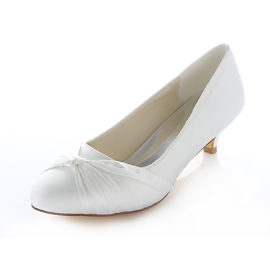 e5e6322b7db Women s Satin Fall Wedding Shoes Kitten Heel Round Toe Rhinestone   Bowknot  Ivory   Party   Evening 7056516 2019 –  44.99