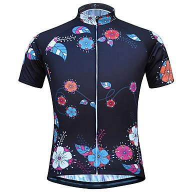 JESOCYCLING Women s Short Sleeve Cycling Jersey - Black Bike Top ... 9dbbff0a2
