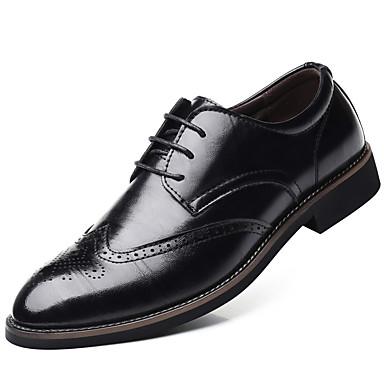 Muškarci Formalne cipele Sintetika Proljeće & Jesen Posao / Uglađeni Oksfordice Non-klizanje Crn / Braon / Štras / Svečane cipele