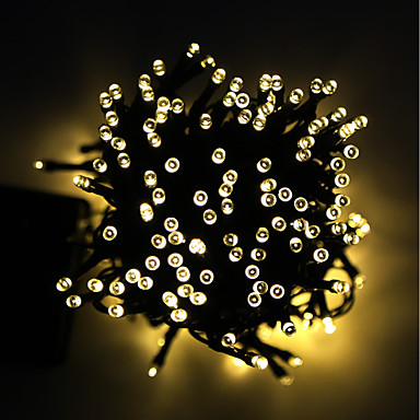 1pc 2 W travnjak svjetla Vodootporno / Sunce / Ukrasno Toplo bijelo 3.7 V Vanjska rasvjeta / Dvorište / Vrt 100 LED zrnca