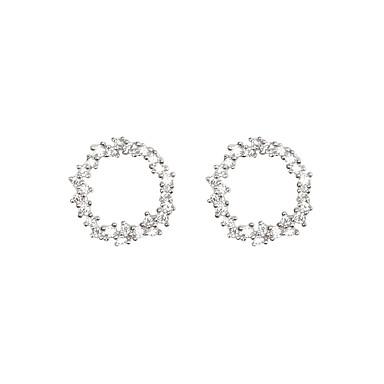levne Dámské šperky-Bílá Klasika Náušnice - Zirkon, S925 Sterling Silver Diamant Evropský, minimalistický styl, Módní Zlatá / Stříbrná Pro Večírek Denní Dámské / 1 Pair