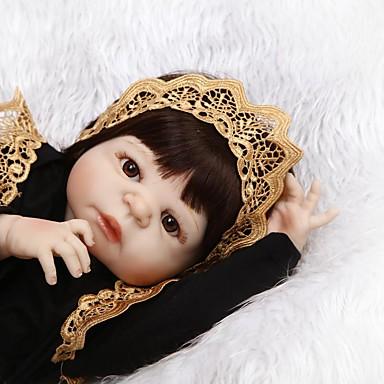 NPKCOLLECTION NPK DOLL Κούκλες σαν αληθινές Παιδιά 22 inch Σιλικόνη πλήρους σώματος Σιλικόνη Βινύλιο - Νεογέννητος όμοιος με ζωντανό Χαριτωμένο Χειροποίητο Ασφαλής για παιδιά Νεό Σχέδιο Παιδικά