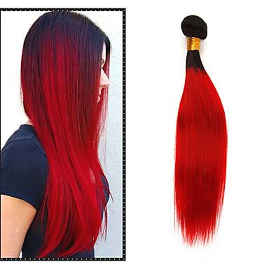 1 paket Brazilska kosa Ravan kroj Remy kosa Ekstenzije od ljudske kose 10-26 inch Isprepliće ljudske kose Nježno Najbolja kvaliteta Novi Dolazak Proširenja ljudske kose