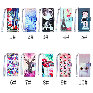 povoljno iPhone maske-Θήκη Za Apple iPhone XS / iPhone XR / iPhone XS Max Novčanik / Utor za kartice / sa stalkom Korice Mačka / Pas / Flamingo Tvrdo PU koža