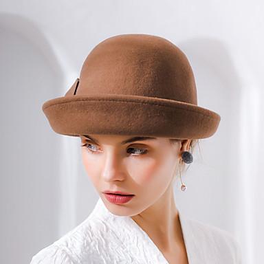 La maravillosa señora maisel Mujer Adulto damas Retro   Vintage Sombreros  de fieltro sombrero Marrón   Rosa   Rojo Cosecha Flor Lana Para la Cabeza  7073906 ... 526ed4fb4b9