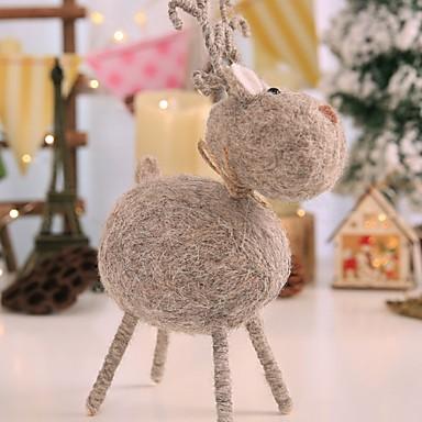Odmor dekoracije Božićni ukrasi Božićni ukrasi Ukrasno Sive boje 1pc