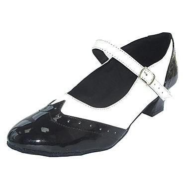 preiswerte Swing Tanzschuhe-Damen Tanzschuhe PU Swing Schuhe Absätze Starke Ferse Schwarz-Weiß / Schwarz / Rot / Schwarz / Blau