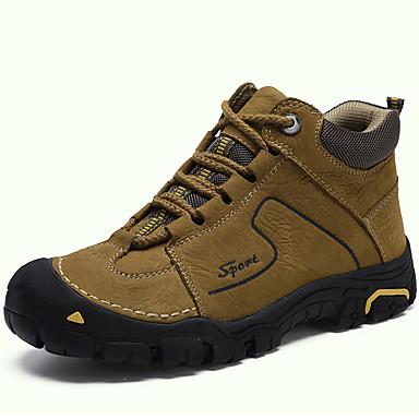Muškarci Fashion Boots Mekana koža Jesen zima Klasik / Ležerne prilike Čizme Ugrijati Čizme do pola lista Crn / Braon / Žutomrk / Vanjski / Vojničke čizme