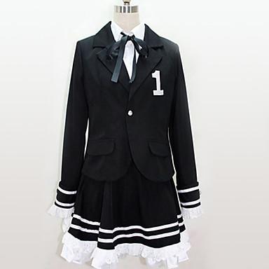 Inspirirana Vocaloid Cosplay Anime Cosplay nošnje Japanski Cosplay Suits Uglađeni / Black & White Kravata / Top / Suknja Za Muškarci / Žene