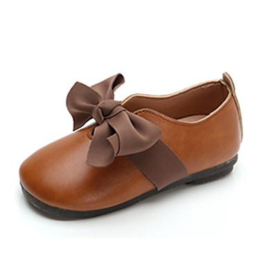 cc7290c2c Chica Zapatos PU Primavera verano   Otoño invierno Zapatos para niña  florista Bailarinas Paseo Flor para Niños   Bebé Beige   Marrón   Rosa    Botines ...