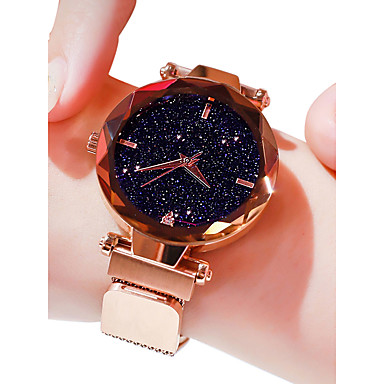 levne Dámské-Dámské Luxusní hodinky Náramkové hodinky Křemenný Černá / Modrá / Fialová 30 m Voděodolné imitace Diamond Analogové dámy Na běžné nošení Módní - Fialová Modrá Růžové zlato