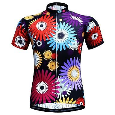 JESOCYCLING Women s Short Sleeve Cycling Jersey - Black Bike Jersey Top  Quick Dry Sports 100% Polyester Mountain Bike MTB Road Bike Cycling  Clothing Apparel ... f625cfa28