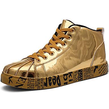 Muškarci Cipele za noviteti Lakirana koža Jesen zima Sportski / Vintage Sneakers Ugrijati Crn / Zlato / Srebro / Atletski / Udobne cipele