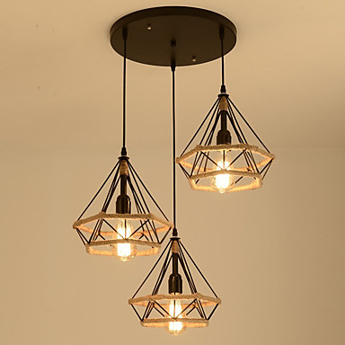 3-Light Konus / industrijski Lusteri Ambient Light Slikano završi Metal Uže, Kreativan 110-120V / 220-240V