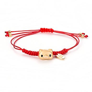 U obliku pletenice Narukvica prijateljstva - Animal Serija Korejski, slatko, Moda Zlato Za Dnevno Žene