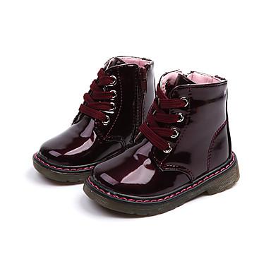 Djevojčice Vojničke čizme Eko koža Čizme Dijete (9m-4ys) / Mala djeca (4-7s) Patent-zatvarač Obala / Pink / Lila-roza Proljeće & Jesen / Čizme gležnjače / do gležnja / Guma