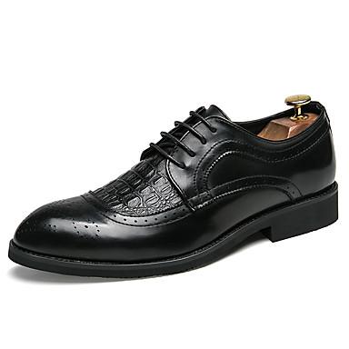 Muškarci Formalne cipele Sintetika Proljeće & Jesen Posao / Uglađeni Oksfordice Non-klizanje Crn / Lila-roza / Svečane cipele