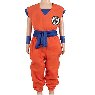 Inspirirana Dragon Ball Son Goku Anime Cosplay nošnje Japanski Cosplay Suits Slovo Others / Top / Hlače Za Dječaci / Djevojčice