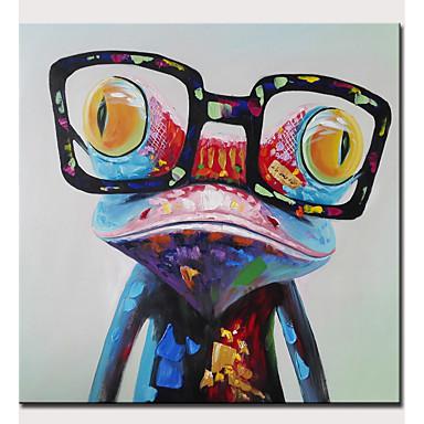 povoljno Ulja na platnu-Hang oslikana uljanim bojama Ručno oslikana - Sažetak Pop art Moderna Bez unutrašnje Frame / Valjani platno