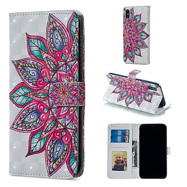 povoljno iPhone maske-Θήκη Za Apple iPhone XS / iPhone XR / iPhone XS Max Novčanik / Utor za kartice / sa stalkom Korice Mandala / Cvijet Tvrdo PU koža